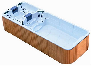 Spa de nage double bassin