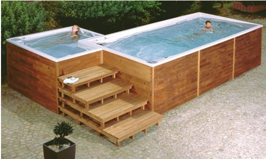 Transformer une piscine en spa tout l 39 univers de la for Piscine hors sol nage contre courant